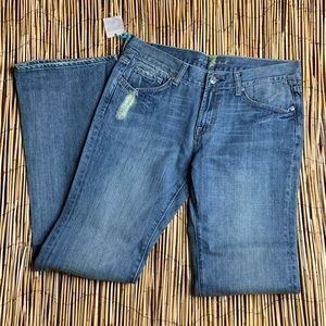 7 FOR ALL MAN KIND FLARE JEANS NWT SZ 31